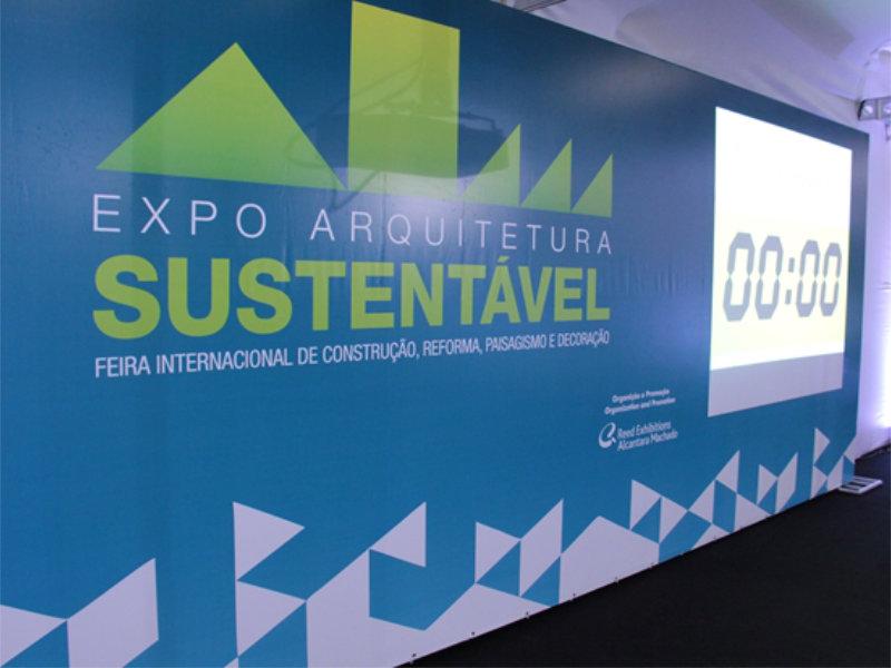 Expo Arquitetura Sustentável que acontece de 10 a 12 de novembro