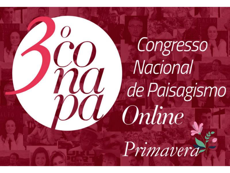3º edição do Congresso Nacional de Paisagismo Online, o Conapa Estação Primavera