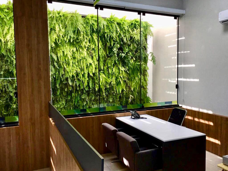 Jardins Verticais em Ambientes Internos