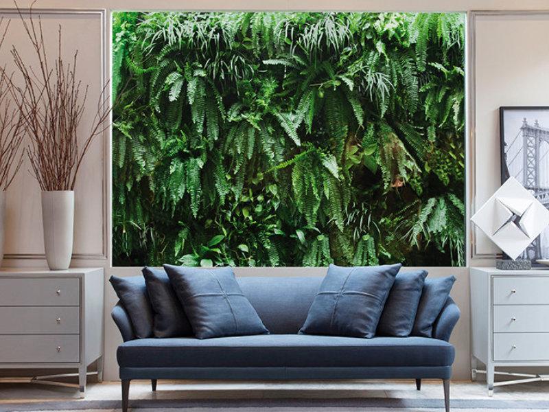Parede verde com produto da PlastPrime participa de mostra de arquitetura